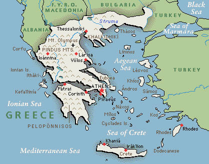 Karta Zemljopisna Karta Grcke